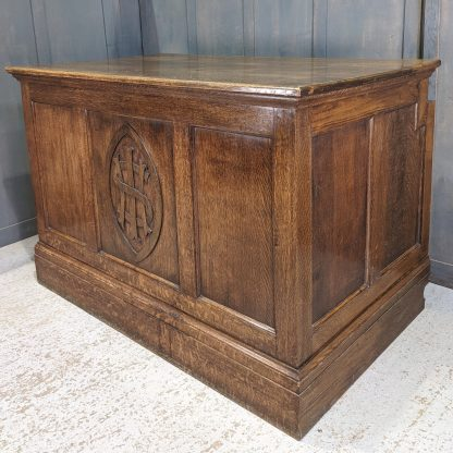 Medium to Large 1930's Vintage Oak IHS Altar from St George's Bournemouth