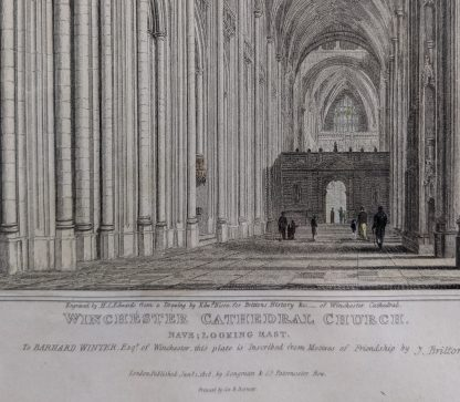 Winchester Cathedral Two 1817 & 1818 Engravings showing Views of Same