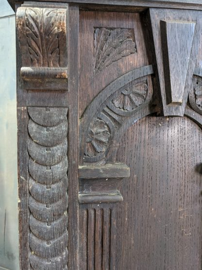 17th Century Style Highly Carved Oak Chapel Lectern from Broomfield School