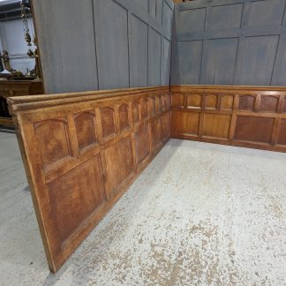 Long Run 15m+ of High Quality Antique Solid Oak Panels Panelling from Walthamstow