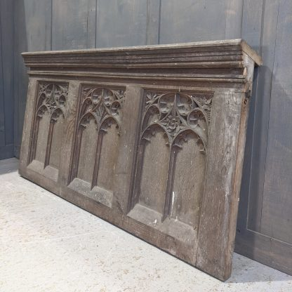 Very Fine Mid 19th Century Antique Carved Oak Over Panel from All Saints Bedworth